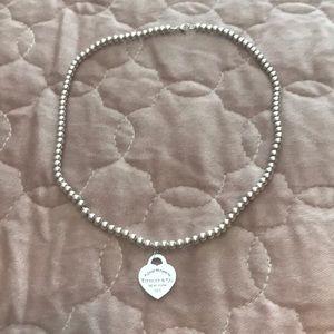 Tiffany Bead Heart Necklace